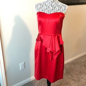 Jessica Simpson Strapless Red Cocktail Dress